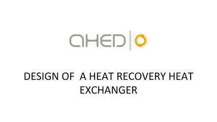 New video: Design of a heat recovery heat exchanger